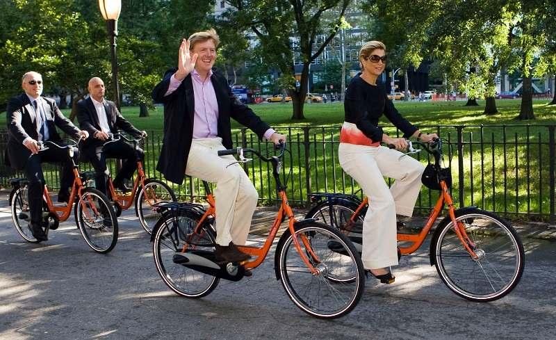 biciklizés a városban